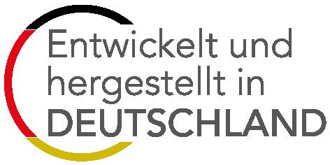 Entwickelt und hergestellt in Deutschland - Logo