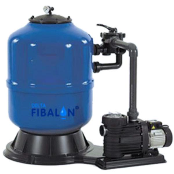 FIBALON-Filteranlage FIBALONsystem bestehend aus Filterkessel, Pumpe und FIBALON Filtermaterial
