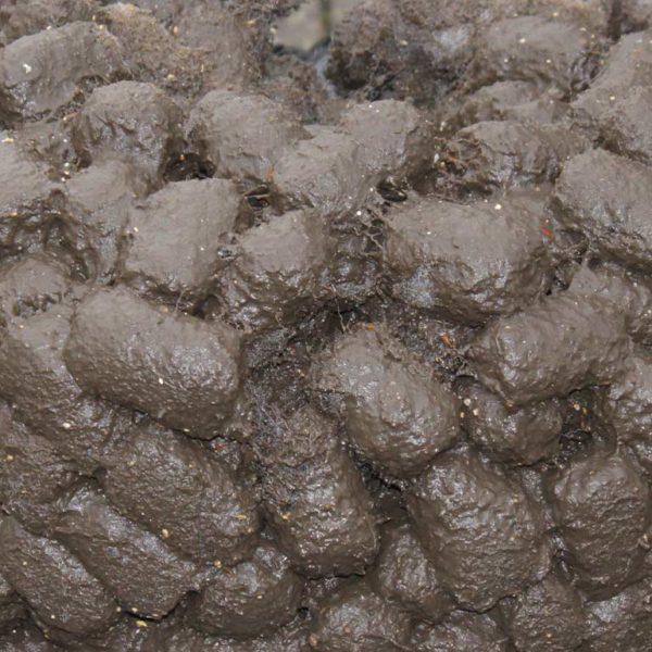 Testversuche im Einsatz Bild 3: verschmutzes Filtermaterial nach Abschluss des Tests, die Form bleibt erhalten