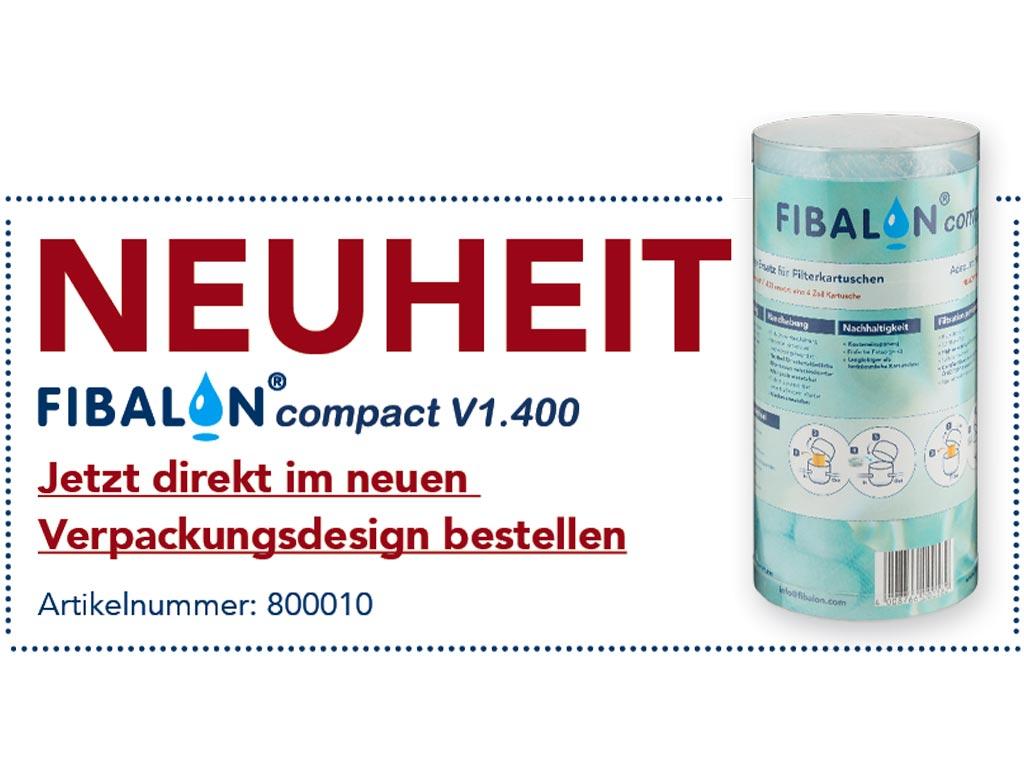 NEUHEIT - FIBALON compact V1.400 - Jetzt direkt im neuen Verpackungsdesign bestellen - Artikelnummer: 800010