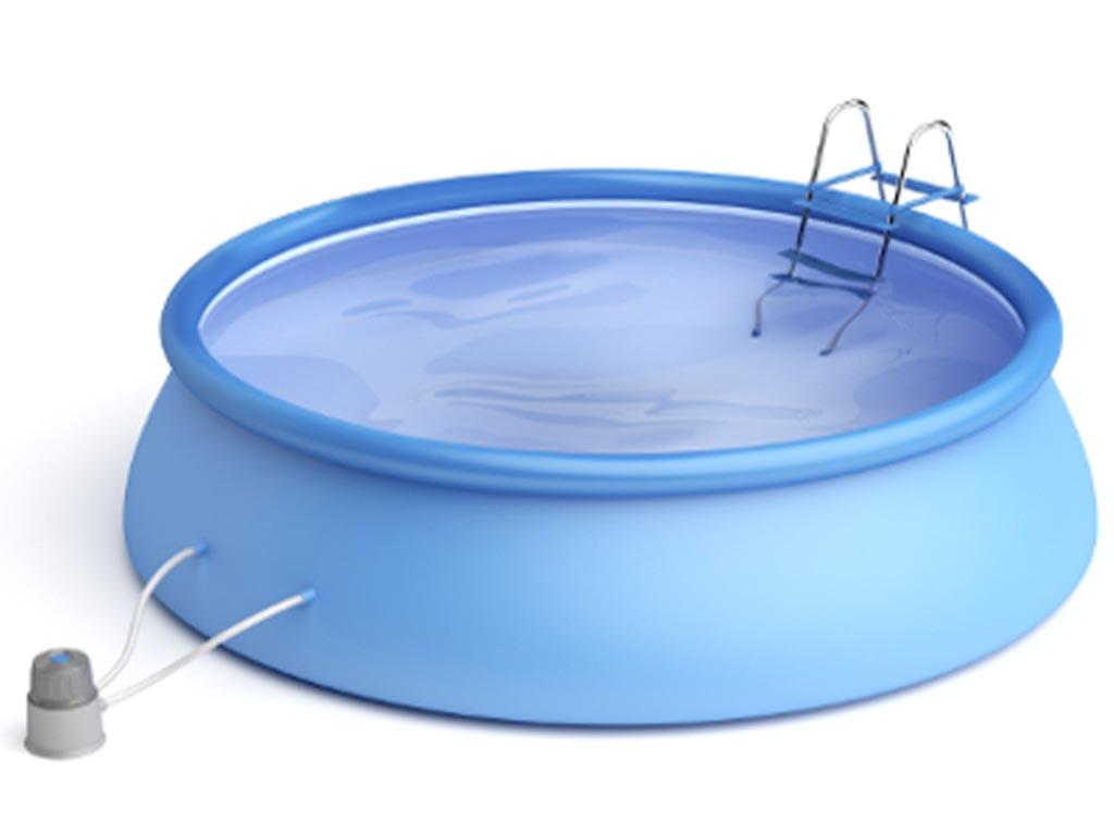 FIBALON compact ist auch für Aufstellpools geeignet