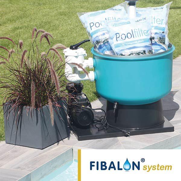 FIBALON system - Filterkessel, Pumpe und FIBALON Filtermaterial