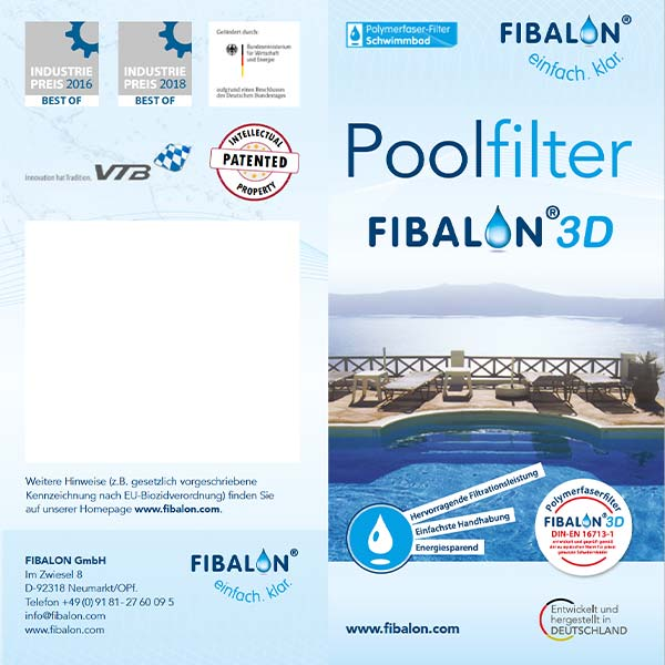 FIBALON 3D Poolfilter Flyer - Hervorragende Filtrationsleistung, einfachste Handhabung, energiesparend