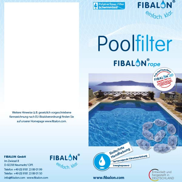 FIBALON rope Poolfilter