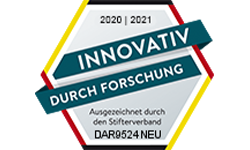 Innovativ durch Forschung - Auszeichnung durch den Stifterverband 2020 / 2021