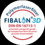 FIBALON 3D Polymerfaserfilter DIN-EN 16713-1 - entwickelt und geprüft gemäß der europäischen Norm für privat genutzte Schwimmbäder
