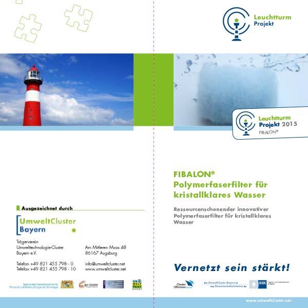 Leuchtturmprojekt - FIBALON Polymerfaserfilter für kristallklares Wasser. Ressourcenschonender innovativer Polymerfaserfilter für kristallklares Wasser.