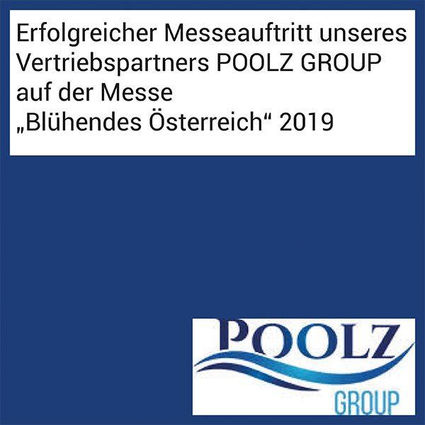 """FIBALON News - Erfolgreicher Messeauftritt unseres Vertriebspartners POOLZ GROUP auf der Messe """"Blühendes Österreich"""" 2019"""