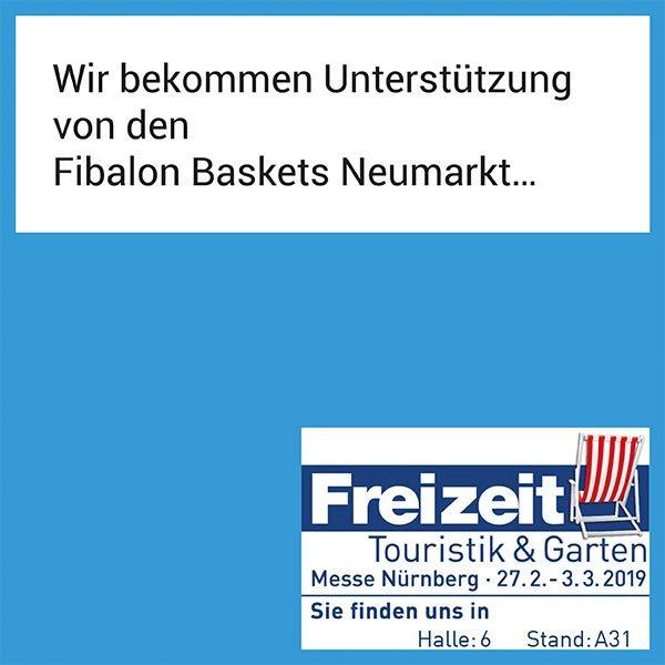 FIBALON News - Wir bekommen Unterstützung von den FIBALON Baskets Neumarkt auf der Freizeit-, Touristik- und Gartenmesse in Nürnberg