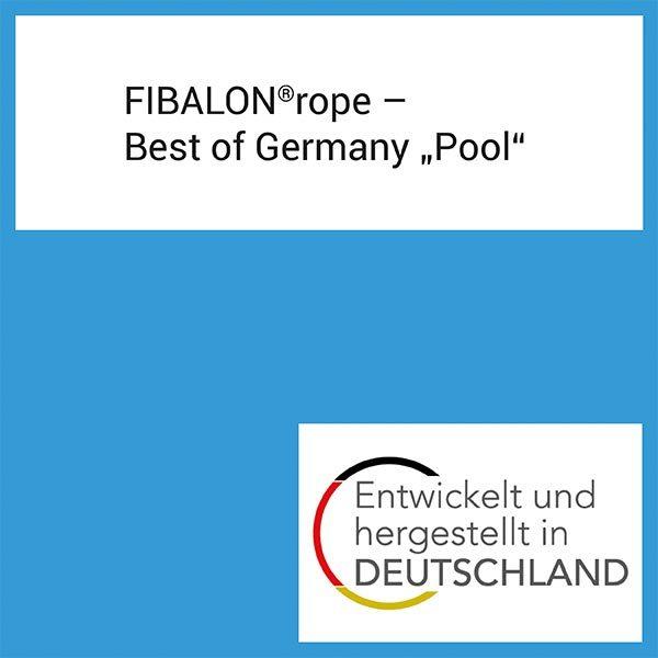 """FIBALON News - FIBALON rope Best of Germany """"Pool"""" - Entwickelt und hergestellt in Deutschland"""