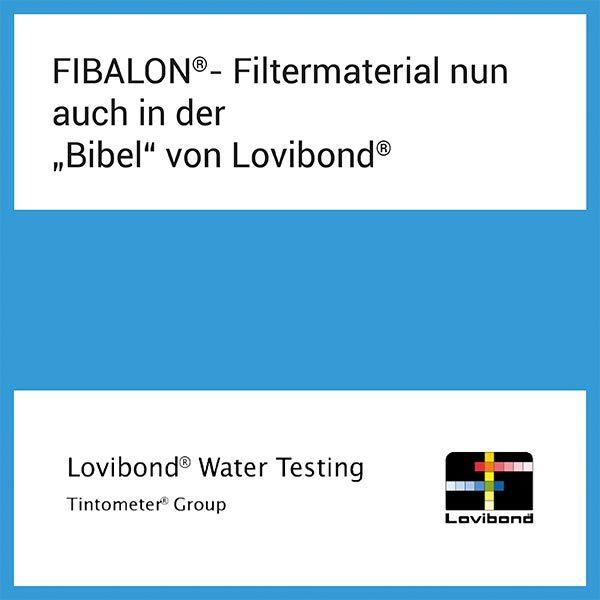 """FIBALON News - FIBALON Filtermaterial nun auch in der """"Bibel"""" von Lovibond"""