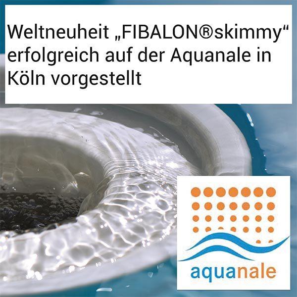 """FIBALON News - Weltneuheit """"FIBALON skimmy"""" erfolgreich auf der Aquanale in Köln vorgestellt"""