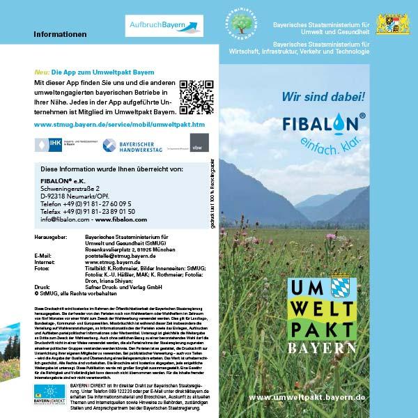 Wir sind dabei! Umweltpakt Bayern des Bayerischen Staatsministerium für Umwelt und Gesundheit, Bayerisches Staatsministerium für Wirtschaft, Infrastruktur, Verkehr und Technologie