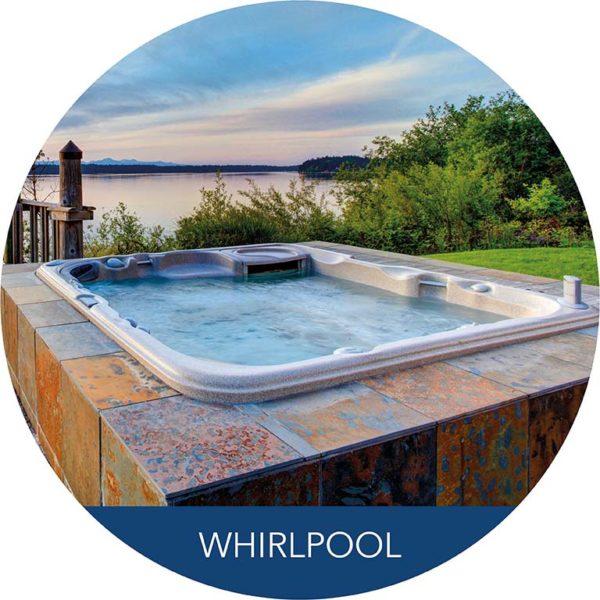 Whirlpool mit Seeblick